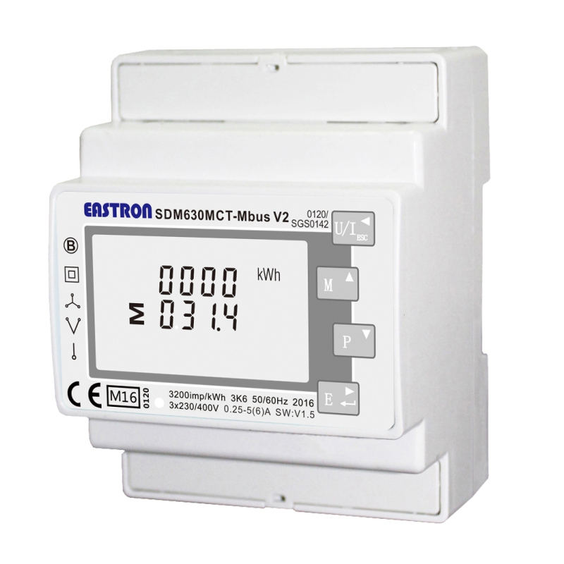 SDM630 M-bus MCT V2 MID 3-phase electricity meter