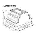 Elmätare 3-fas SDM630 MCT M-bus V2 MID dimensioner