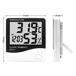 Digital Thermometer, Hygrometer & Clock