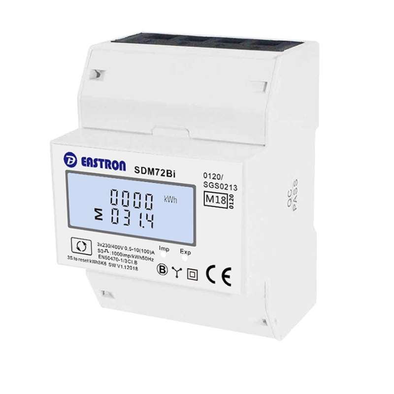 SDM72Bi Energy Meter with resettable trip counter