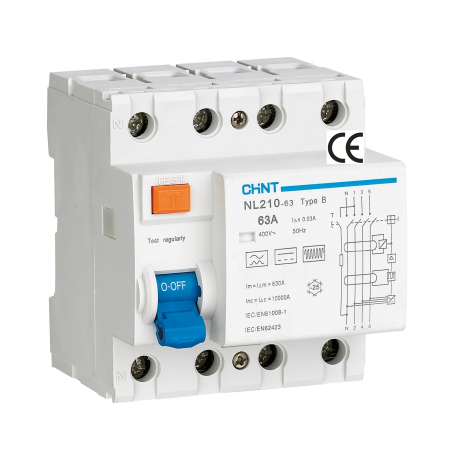 Chint NL210 3-phase residual current device TYPE B