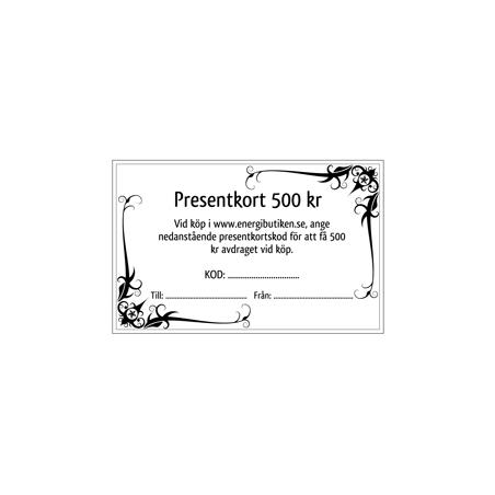 Voucher 500 SEK