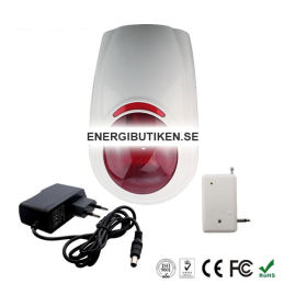 Wireless siren with flash 120 dB