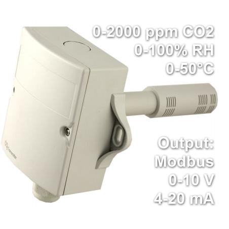 Temperature/Humidity/CO2 transmitter modbus