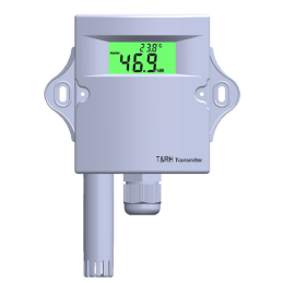 Humidity and temperature transmitter with display