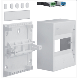 Distribution box for 4 modules, premium